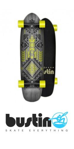 Bustin Modela 33 Aztec Yellow longboard komplektas