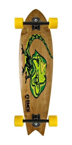 "Omen 34"" Lizard King Swallow Tail longboard komplektas"