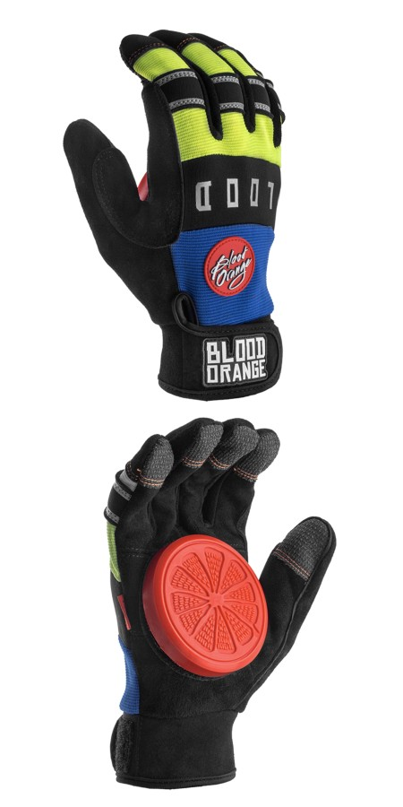 "Blood Orange ""Knuckles"" Slide Gloves (blue/neon) pirštinės"