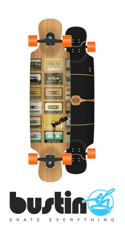 Bustin Boombox - Bamboo X longboard komplektas