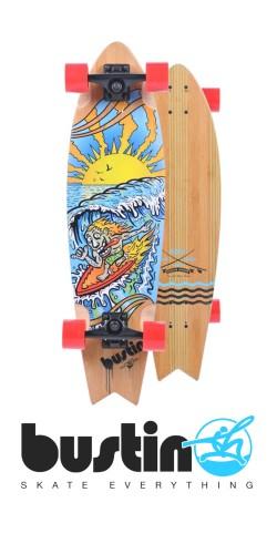 Bustin Fish 32 Surfy Surfy longboard komplektas