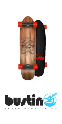 "Bustin Modela 33"" Whiskey Label longboard komplektas"