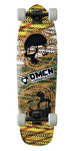 "Omen 29"" Two Skull Single Kick longboard komplektas"
