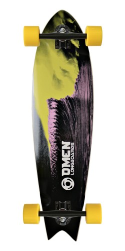 "Omen 34"" Green Room Swallow Tail longboard komplektas"