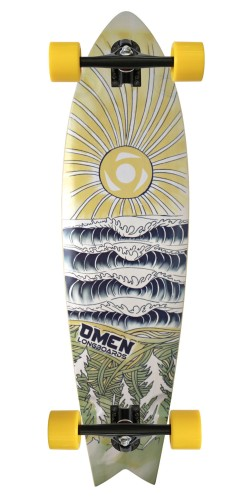 "Omen 37"" Sunsets Swallow Tail longboard komplektas"