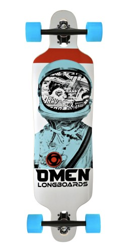 "Omen 38"" Astronaut Drop Through longboard komplektas"