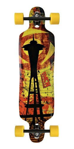 "Omen 38"" Needle Drop Through longboard komplektas"