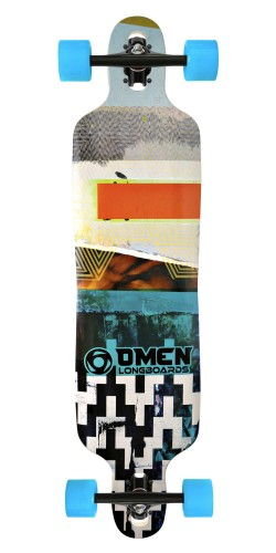 "Omen 41"" Abstract Drop Through longboard komplektas"