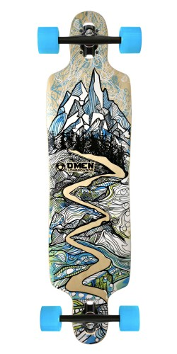 "Omen 41"" Alpine Drop Through longboard komplektas"