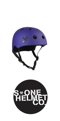 S-One Premium Helmet Purple Matte šalmas